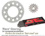 RACE GEARING: Steel Sprockets and JT Z3 X-Ring Chain - Aprilia RSV4/1000RF (2015-2017)